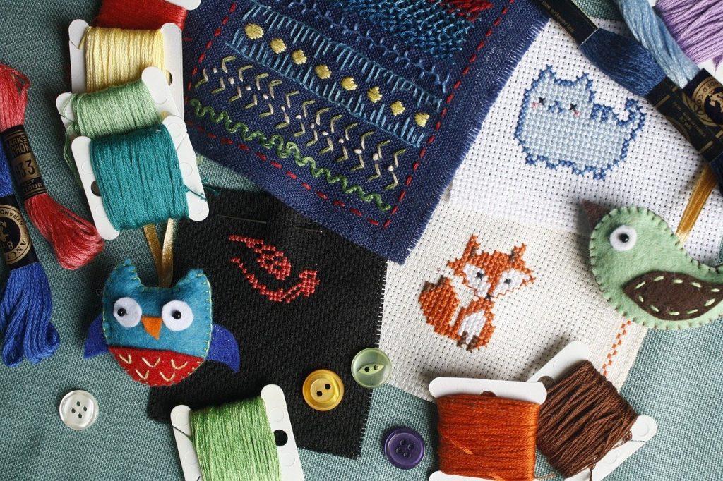 embroidery, needlework, cross-stitch